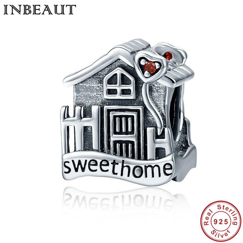 INBEAUT New Genuine 100% 925 Sterling Silver Sweet Home Loft Villa Charms Fit Pandora Bracelet DIY Fine Jewelry
