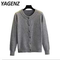2017 Spring/Autumn Sweater Women's Short Cardigan Korean Loose Single breasted O neck Sweater Solid Lady Cardigan Casual Tops