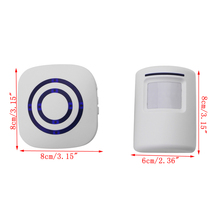Wireless Infrared Motion Sensor Door Security Bell Alarm Chime EU/US Plug 2018 welcome alarm chime wireless security alarm system protection infrared ir motion sensor door bell alarm doorbell diy kit
