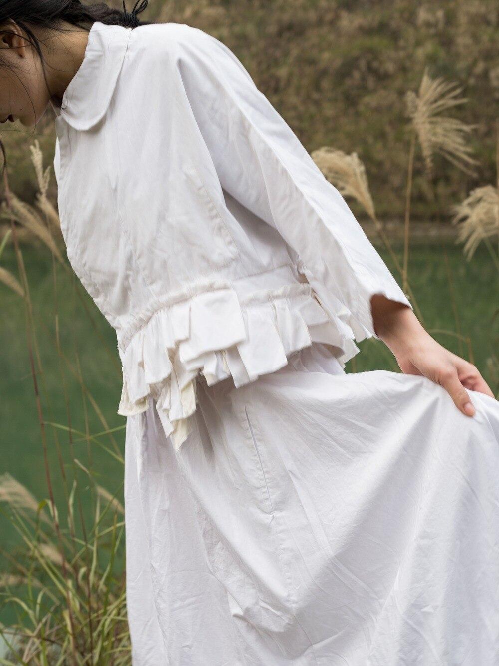 Veste Et 2019 'tops Poupée Col Rétro Nouveau Dames Manches Japonais Esthétique Blanc Courte Unique À Sept D'été Printemps Cakucool EZvdwCqq