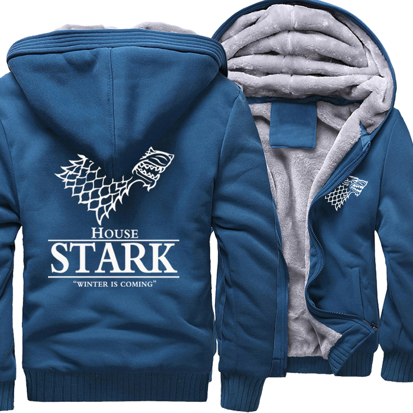 Fashion Streetwear Harajuku Mens Sportswear 2018 Spring Hoody House Stark The Song Of Fire And Ice Winter Is Coming Hoodies Men