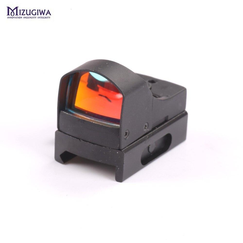 Tactique Mini Holographique Dot Sight Reflex Lumière 25mm Objectif Micro Red Dot Sight Portée Pour Weaver Picatinny Mont 20mm w/Parasol