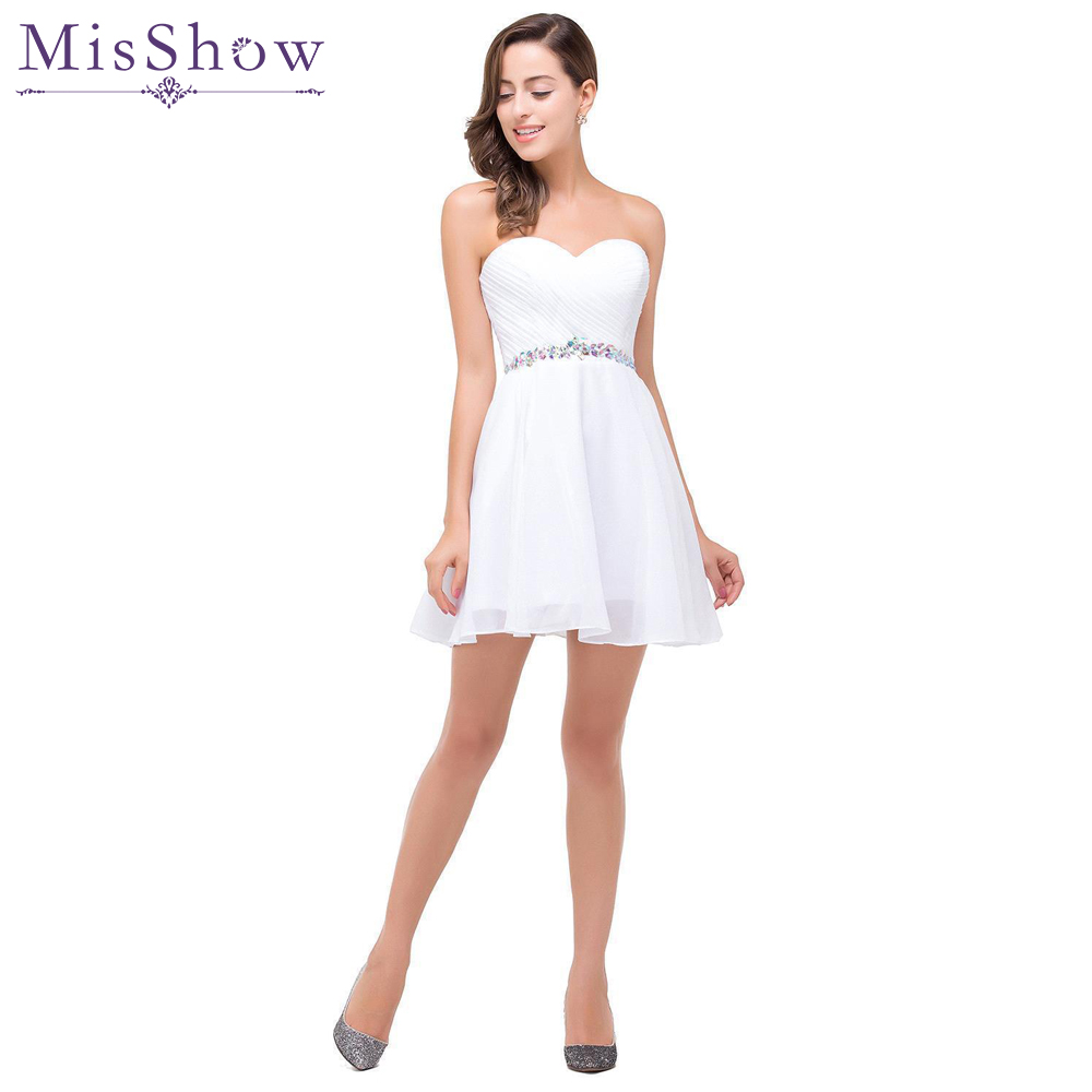 [Final Clear Out] Short Prom Dresses 2019 Sexy Backless Lace Up Prom Gown Formal Dress Women Occasion White Party Dresses
