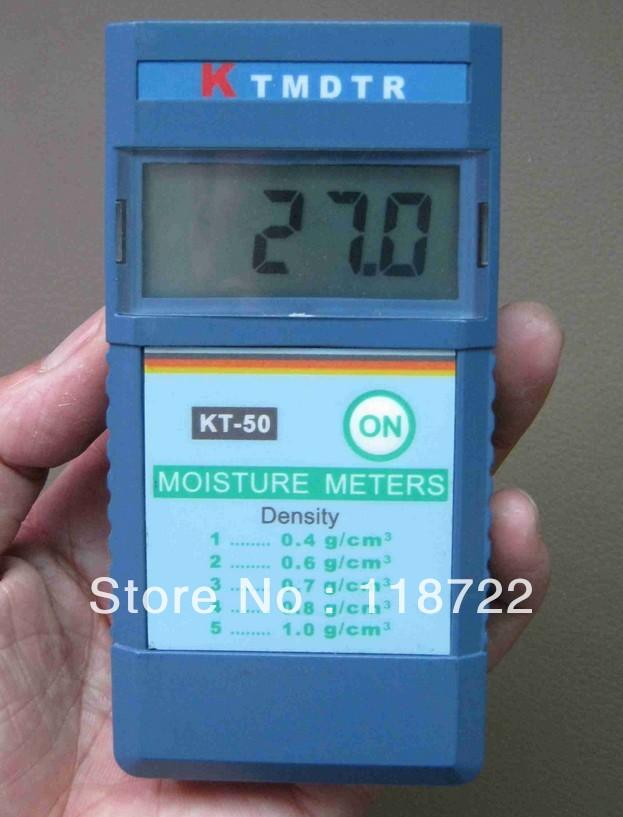 INDUCTIVE MOISTURE METER digital wood moisture meter KT-50 2%~90% Resolution: 1% free shipping retali and wholesale