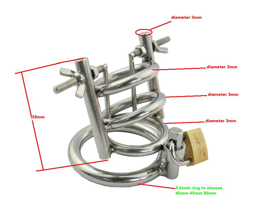 Small Male chastity chastity device for stainless steel metal catheter penis lockchastity urethral penis ring  chastity belt men stainless steel male chastity