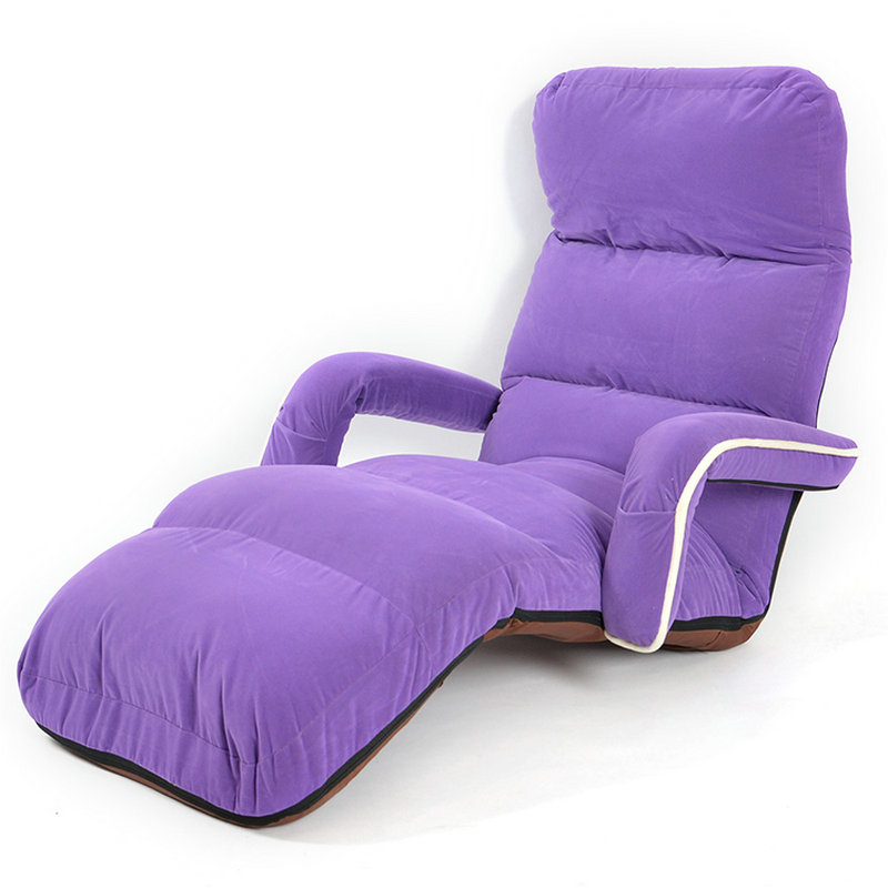 Floor Daybed Living Room Sofa Furniture Adjustable Foldable Suede 6 Colors Chaise Lounge Recliner Chair Sleeper Bed