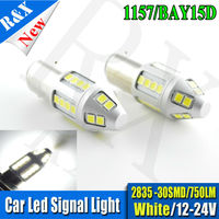 1pair 1157 Bay15d S25 2835 LED 30SMD High Power LED Tail Brake Stop Light Bulbs Car
