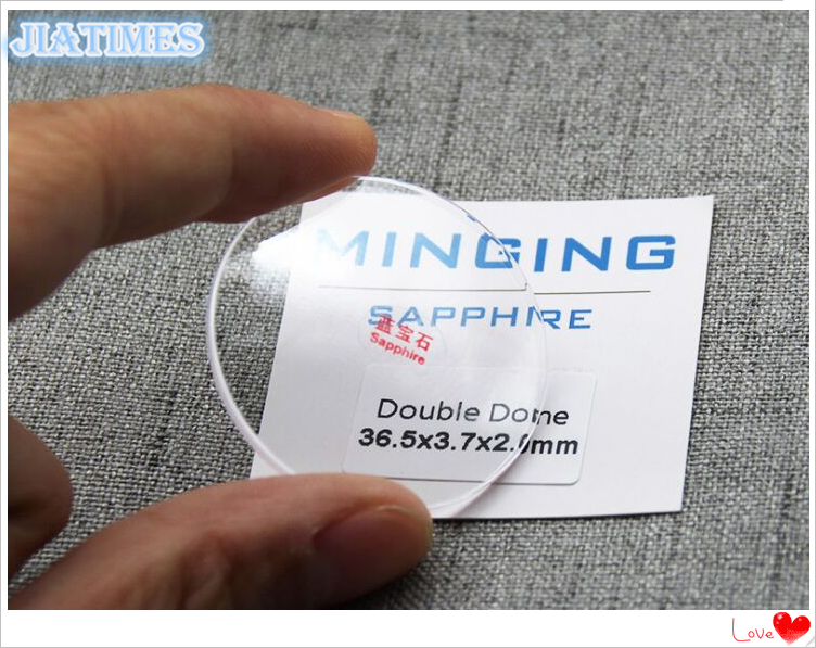 Free Shipping 1pc 2.0mm Thick Concave Double Dome Transparent Sapphire for Watch Repair