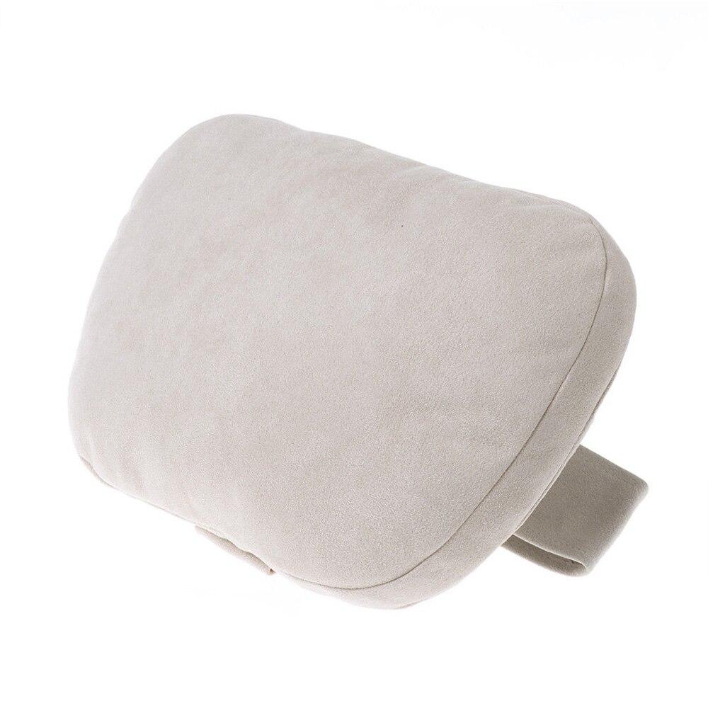 Auto Car Headrest Pillows Black/Beige 29x19cm Compatible For Mercedes Benz Interior Accessories Neck Pillow   - title=