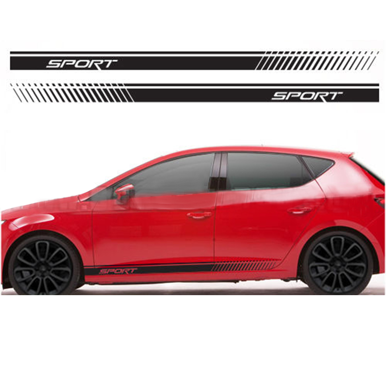 Responsible Automobile 2pcs For Seat Racing Stripes Graphics Stickers Decals Leon Ibiza Cupra Fr Sport Car Styling Da-er2 Beautiful And Charming Automobiles & Motorcycles