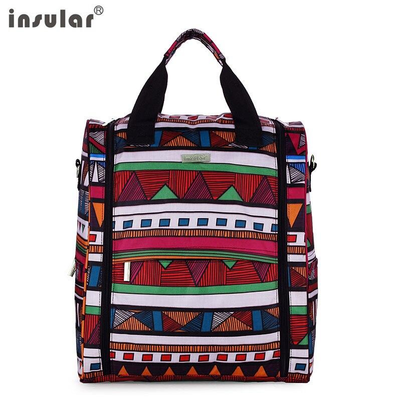 Neue ankunft versandkostenfrei insular baby windel rucksack multifunktionale mama bag rucksack ändern taschen