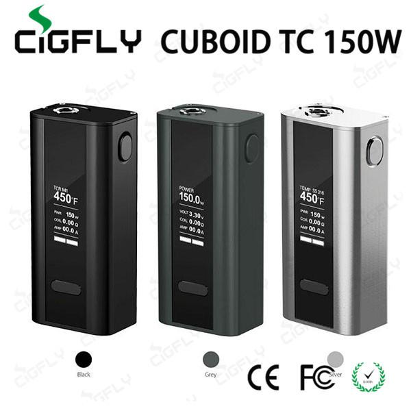 100% Original Joyetech Cubóide 150 W Controle de Temperatura TC 150 W Box Mod Função Firmware Atualizável Tela OLED Mod Mecânica