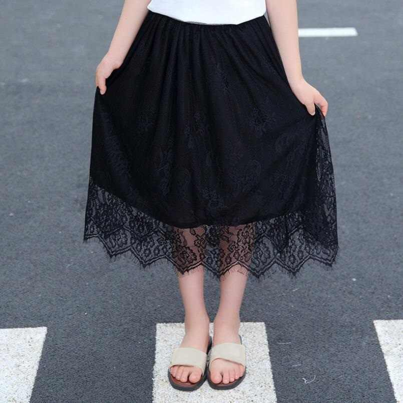 ベビー幼児十代の女子高生レーススカート子供服女の子チュチュスカートプリンセスロングスカート子供衣装 JW4909