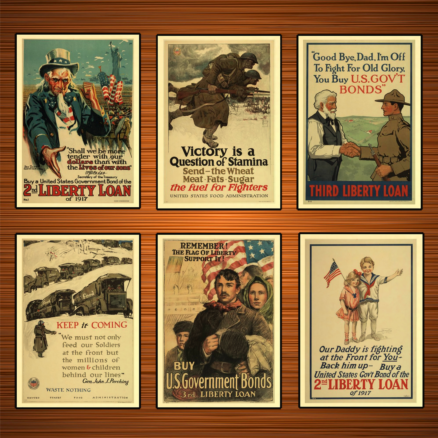 Vintage 1910s USA WW1 Propaganda Poster Victory is a Question of Stamina Classic Canvas Paintings Wall Stickers Home Decor Gift image