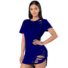 Summer T Shirt Dress 2017 Women Sexy Cut Out Bodycon Bandage Party Dresses Casual T-Shirt Mini Dress Vestidos De Festa