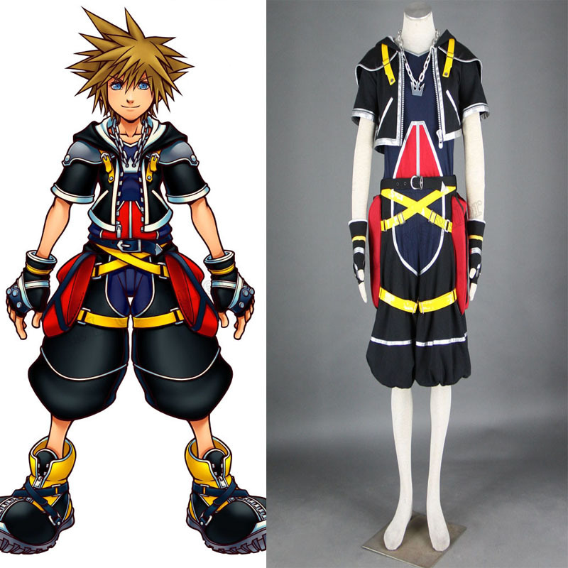 Kingdom Hearts II 2 Sora Cosplay Costume Tailored the original color