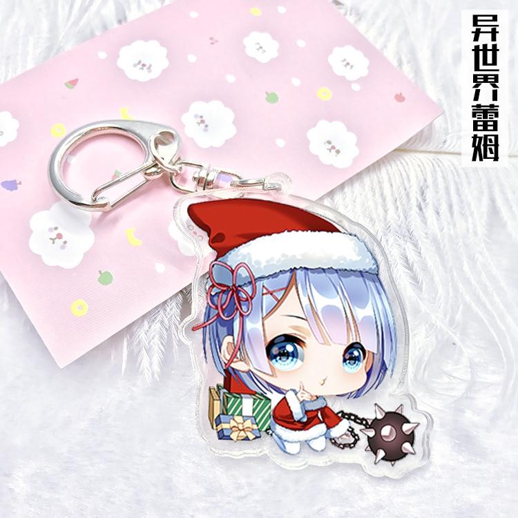 RE zéro Kara hajimeru Isekai seikasu caoutchouc KeyChain porte-clés rare Bracelet Cosplay