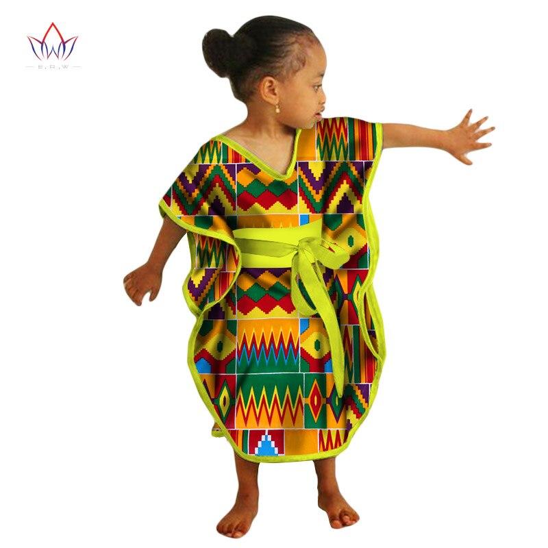 2017 Afrikanische Kinder Kleider African Dashiki Drucken Baumwolle Wachs Passenden Kleider Afrika Kinder Sommer Plus Größe Kleidung Wyt69 üBereinstimmung In Farbe