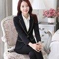 (3 шт.) женщины формальные брючный костюм для работы униформа розовый пиджак деловой костюм дамы брючные костюмы бизнес профессиональная одежда B110