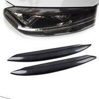 For VW Golf 7 Mk7 100 Real Carbon Fiber Headlight Eyebrow Eyelid B 2013 2015 1011020