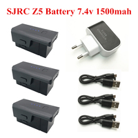 Atualizado para sjrc z5 x103w kf608 bateria 7.4v 1500mah lipo bateria 7.4v carregador usb para rc quadcopter zangão z5 peças|Baterias recarregáveis| |  -