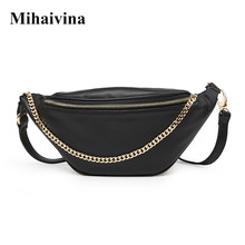 Mihaivina Fashion Waist Pack For Women Fanny Pack Casual Chain Chest Bag Female Money Belt Travelling Mobile Phone Bags