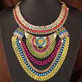 Handmade punk big chunky statement chain bib necklace kpop jewelry wholesale gros collier femme/maxi colar/collana/gargantillas