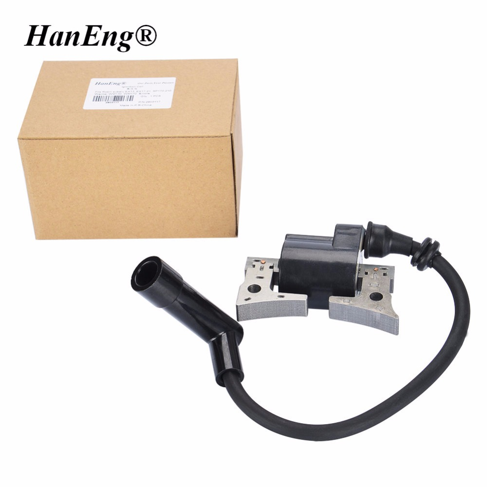 IGNITION COIL FITS ROBIN SUBARU EX13 EX17 EX21 6 ~7 HP OHC 169CC 211CC MAGNETO MODULE STATOR SUBARU PARTS 277-79431-01 nb411 ignition coil for robin ec04 bg411 cg411 magneto stator 47cc 49cc 2t atv pocket dirt bike brushcutter ignitor module