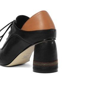 Image 4 - ALLBITEFO גדול גודל: 34 42 עור אמיתי בוהן מרובע עקבים גבוהים מסיבת נשים נעלי נשים גבוהה העקב נעלי אביב נשים עקבים