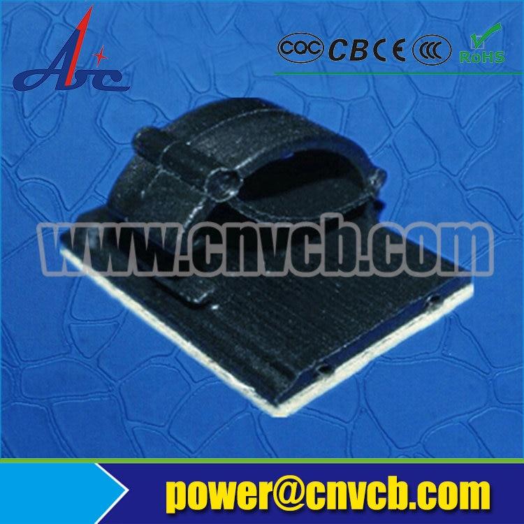 PL 0036 10mm 14mm black Self Adhesive Tie Mount nylon adhesive wire mount