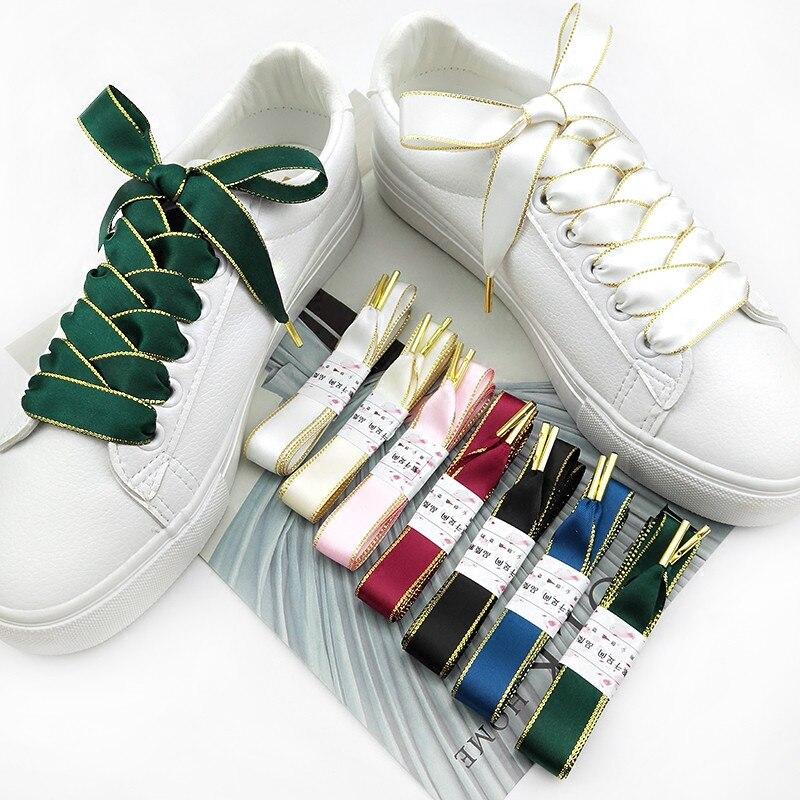 Boutique Shoelaces 7 Color 1.6 Cm Width Double-sided Phnom Penh Shoelaces Beautiful Lace Leisure Sports Shoes Shoelaces