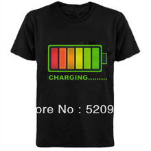 Sound Led T-Shirt Activated Led Light Up And Down DJ Disco Dancing LED EL T-Shirt Free shipping