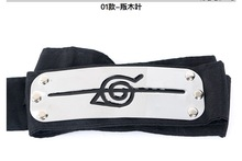 Costume Unisex party NARUTO Hidden Leaf Village Anime Cosplay Kakashi Sasuke headband Konoha rebel ninja Armband цена