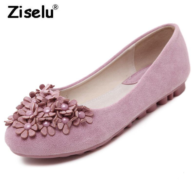 Top Quality Suede Fine Flower Round Toe Women Ballet Flats Shallow Non Slip Comfortable Flat 2018 New Fashion Spring Summer Shoe new fashion woman flats spring summer women shoes top quality strappy women sandals suede pointed toe gladiator ballet pumps