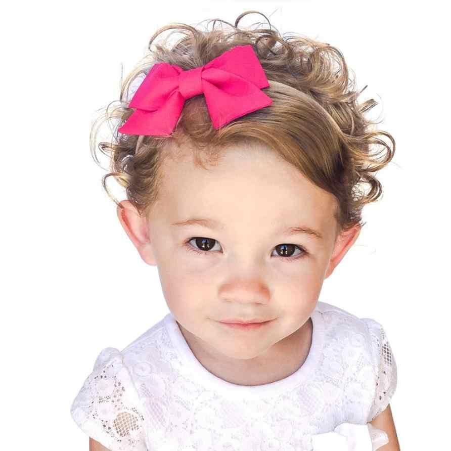Большая детская повязка на голову с бантиком, 1 предмет, хлопковая льняная повязка на голову для ребенка, детские аксессуары для головы, однотонный бантик для волос, синий, розовый, красный, белый