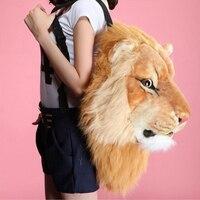 Animales 3D adolescentes León bolsas casual bolsas de hombro versión coreana de la bolsa de hombro pareja regalos sí