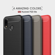 Huawei P20 Lite Case Silicon Case for Huawei P20 Pro Case Cover P20 Fundas Soft Carbon Fiber Brushe Coque Etui Capinha Aksesuar for huawei p20 lite leather case for p20 pro cover wallet zipper protector etui coque for huawei p20 p20pro case fundas bag