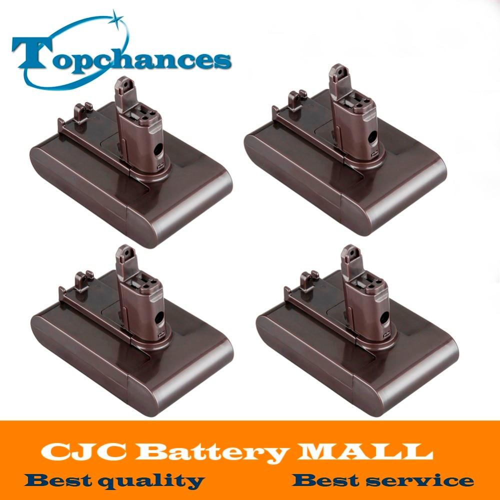 4 шт. высокого качества новые Замена Мощность инструмент Батарея 22.2 В 2.0Ah 2000 мАч литий-ионный Тип B для <font><b>Dyson</b></font> <font><b>DC31</b></font> /DC34/DC35/DC44/DC 45