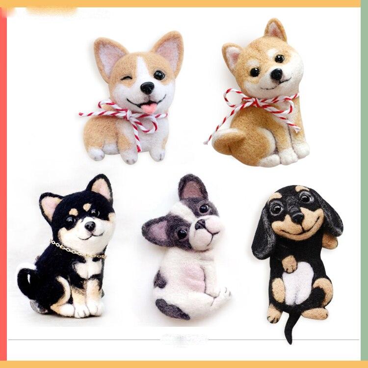 Plush-Toys Corgi Bulldog Puppy-Shiba-Inu Stuffed Wool Dachshund Gift Little-Pet Original