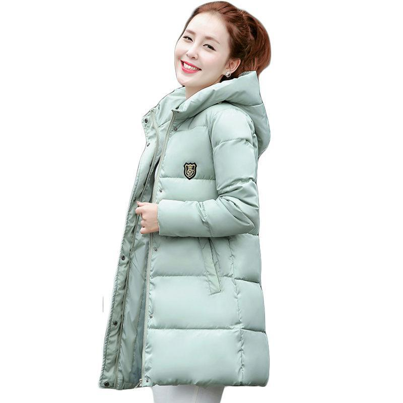 2017 New Korean Winter Women Coat Elegant Pure color Thick Warm Hooded Down Cotton Jacket High quality Large size Women Coat 2017 new korean winter women coat elegant pure color thick warm hooded cotton jacket high quality large size women coat parkas