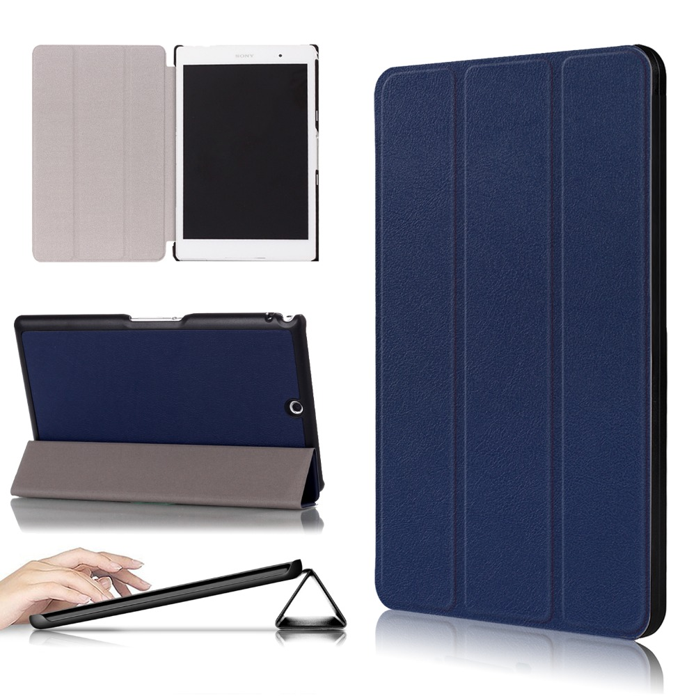 a669e4335d4 Tri-Folding PU Leather Magnetic Case for SONY Xperia Z3 Tablet Compact  SGP611 SGP612