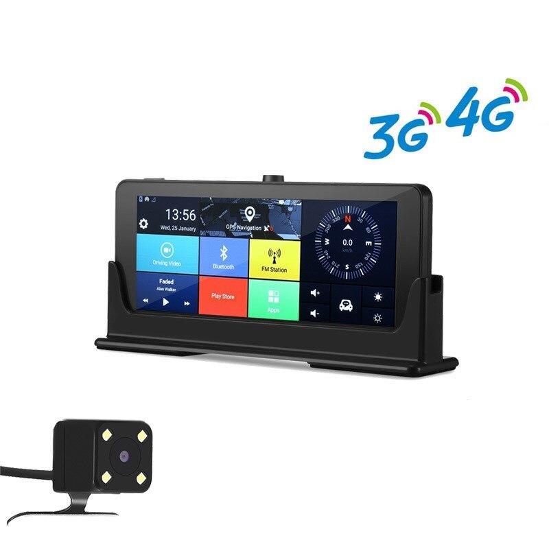 Zeepin 4 г/3 г Wi Fi Видеорегистраторы для автомобилей регистраторы GPS навигации 7 дюймов Android большой Сенсорный экран HD 1080 P заднего вида Камера мул