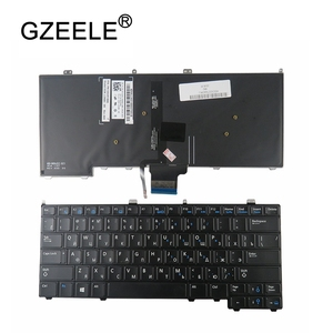Image 1 - RU backlight NEW for DELL for Latitude E7440 E7240 russian laptop Keyboard with backlit keyboard