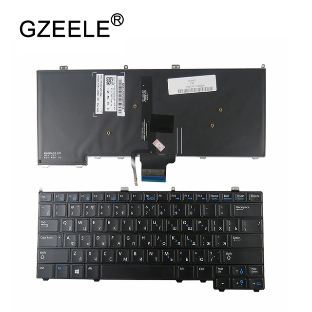 RU backlight NEW for DELL for Latitude E7440 E7240 russian laptop Keyboard with backlit keyboard