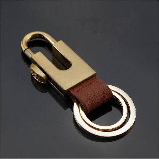 Luxury Car Keychains Keyring Pu Zinc Alloy Car Key Ring Casual