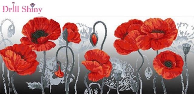 Low Cost 5d Diy Diamond Lotus Flower Canvas Painting Cross Stitch