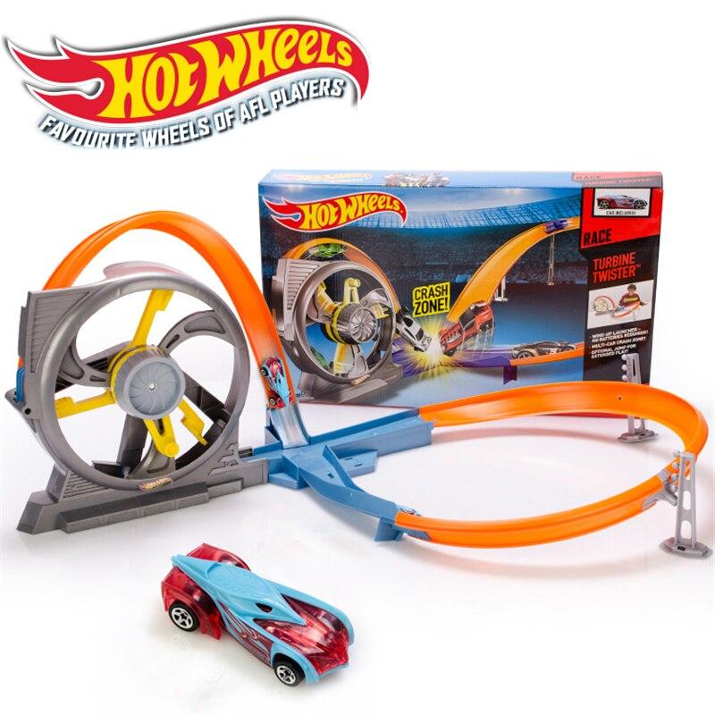 Hotwheels rond-point piste jouet enfants voitures jouets en plastique métal Mini Hotwheels voitures Machines pour enfants jouet de voiture éducatif