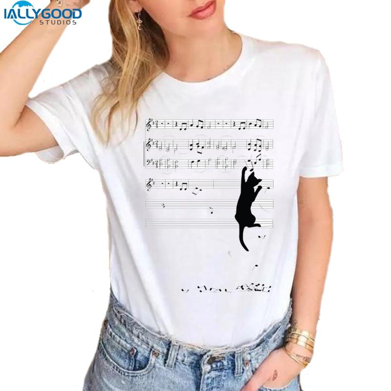 Neue Sommer Mode Lustige Unfug Katze T-shirts Frauen Kurzarm Cartoon Weiß Tops Baumwolle Dünne Beiläufige Frauen T Shirts S1117 In Den Spezifikationen VervollstäNdigen Gepäck & Taschen