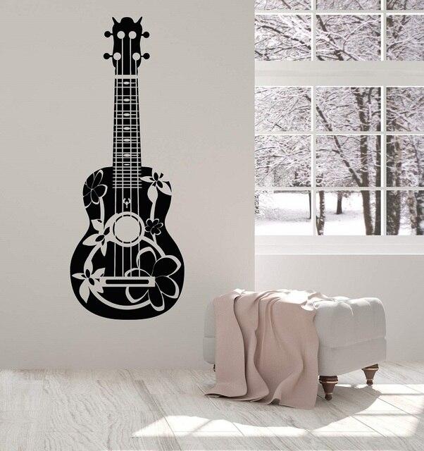 Della parete del vinile applique chitarrista acustico chitarra musicista staccabile poster casa di arte di disegno della decorazione 2YY6