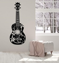 Vinyl wall applique acoustic guitarist guitar musician detachable poster home art design decoration 2YY6 все цены
